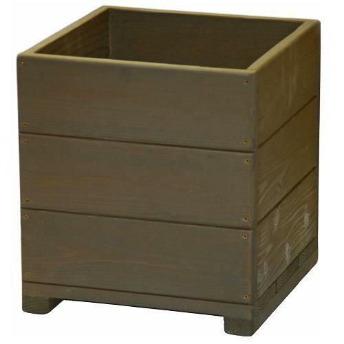 Welcome wood  12号ウッドプランターH12D-UB 鉢カバーとしても使用できます   容量・約39リットル (植木鉢  木製プランター 鉢カバー)
