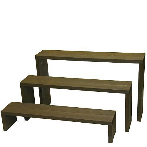 Welcome wood ウッドステージ90型3段タイプ  色はUB アンバーブラウン WSF903-UB (フラワースタンド プランタースタンド ベランダガーデニング フラワーラック)
