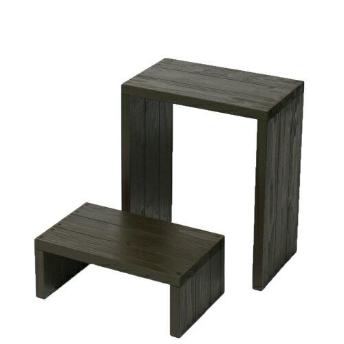 Welcome wood ウッドステージWSW452LH-UB ワイド2段タイプ  色はUB アンバーブラウンUB (フラワースタンド  フラワーラック プランタースタンド 飾り台)などにご利用ください。