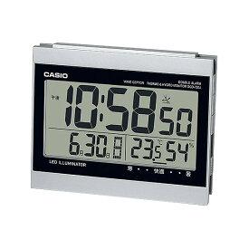 CASIO カシオ ダブル電子音アラーム機能 日付・温湿度計表示 LEDライト付き目覚まし電波時計 DQD-720J-8JF(置き時計)