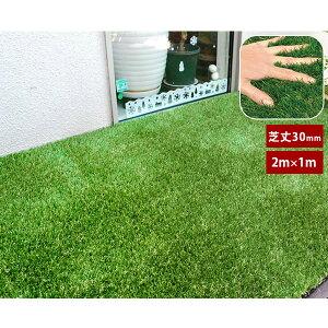 人工芝ロールタイプ 芝生 4種配合 水抜き穴付き 幅1×長さ2m 芝丈30mmタイプ SST-FME-3002【送料無料】