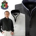 フランコ・コレツィオーニ ドレスシャツ ワイシャツ 2色組 ストライプ 光沢 二重変化衿 スタンドカラー メンズ 通年 F…