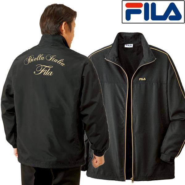 FILA フィラ 裏メッシュ ブラックジャケット メンズ 通年 ブラック ゴールド 957375