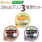 ハウス食品区分3:舌でつぶせるやさしくラクケア20kcalプリン3種類セット(黒ごま・カスタード・チョコ)