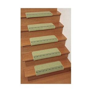 サンコーコーナー付階段用すべり止めマット「おくだけ階段マット」(15枚組)_KA-4