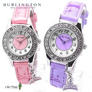 送料無料 カクタス キッズ 腕時計 レディース 時計 CAC-71-L 女の子 CACTUS 王冠 ティアラ チャーム キッズ ウォッチ カクタス腕時計 かわいい 可愛い おしゃれ 子供用 キッズ時計 キッズ腕時計