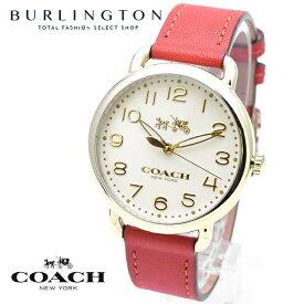 0eba224d204e コーチ 腕時計 レディース COACH デランシー 14502719 アイボリー ゴールド レッド レザーベルト コーチ腕時計 コーチ時計 COACH