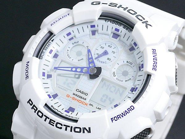 カシオ CASIO Gショック G-SHOCK アナデジ 腕時計 GA100A-7A ホワイト 白 ジーショック メンズ 時計 ウォッチ 人気 モデル