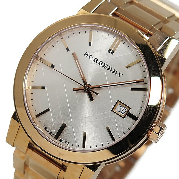 BURBERRY バーバリー 腕時計 メンズ Men's 時計 シティ クオーツ シルバー ピンクゴールド BU9004 人気 高級 ブランド バーバリー腕時計 おしゃれ オススメ バーバリー時計 男性 ギフト プレゼント