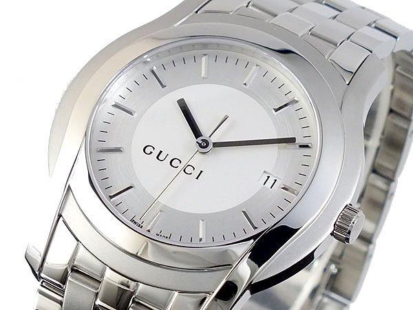 GUCCI グッチ 腕時計 メンズ Men's 時計 Gクラス YA055212 ホワイト シルバー 人気 高級 ブランド グッチ腕時計 グッチ時計 オススメ おしゃれ うでどけい 男性 ギフト プレゼント