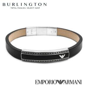エンポリオアルマーニ ブレスレット メンズ EMPORIO ARMANI EGS1923040 ブラック 黒 レザー ステンレス イーグル ロゴ おしゃれ 人気 ブランド 男性 ギフト プレゼント