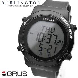 GRUS グルス 歩幅 歩数 消費カロリー 計測 腕時計 ウォーキングウォッチ GRS001-02 ブラック 黒 健康 時計 測定 健康ウォッチ 散歩 デジタル メンズ レディース 男性 女性