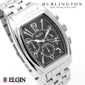 エルジン 腕時計 メンズ クロノグラフ ELGIN 時計 FK1215S-B シルバー ブラック クオーツ トノー型 アナログ エルジン時計 エルジン腕時計 ELGIN腕時計 ELGIN時計 人気 ブランド おしゃれ おすすめ 男性 就職祝い 誕生日 ギフト Xmas クリスマス プレゼント