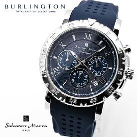 サルバトーレ マーラ 腕時計 メンズ クロノグラフ SM19110-SSNV ネイビー 紺色 シルバー ラバーベルト 2019年 新作 人気 ブランド 時計 おしゃれ おすすめ オススメ 男性 彼氏 誕生日 ギフト Xmas クリスマス プレゼント