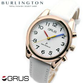 f86cd7539c 送料無料 時刻・日付を音声でお知らせ♪ グルス 腕時計 レディース GRUS 音声時計