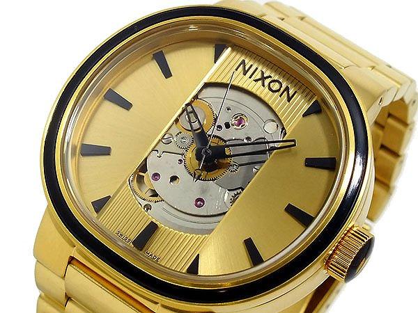 送料無料 ニクソン NIXON キャピタル オートマティック 自動巻き 腕時計 A089-510 ゴールド 金色 10気圧 防水 人気 ブランド 時計 NIXON腕時計 NIXON時計 ニクソン腕時計 ニクソン時計 おしゃれ おすすめ ウォッチ 激安 男性 ギフト 誕生日 プレゼント