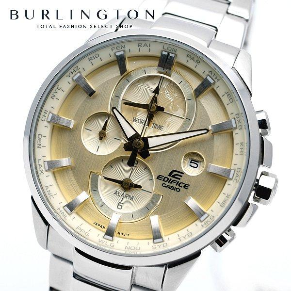 送料無料 エディフィス 腕時計 メンズ EDIFICE カシオ CASIO ETD310D9AV ワールドタイム ゴールド 金 シルバー 銀 ウォッチ ブランド 人気 時計 EDIFICE時計 EDIFICE腕時計 激安 セール sale ビジネス 就職祝い 男性 ギフト プレゼント