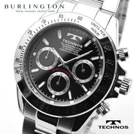 テクノス 腕時計 メンズ TECHNOS クロノグラフ TSM401SB ブラック シルバー 人気 ブランド テクノス腕時計 テクノス時計 ウォッチ オススメ おしゃれ 就職祝い 誕生日 男性 ギフト プレゼント