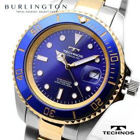 テクノス 腕時計 メンズ TECHNOS TSM402TN ブルー ゴールド シルバー 人気 ブランド テクノス腕時計 テクノス時計 ウォッチ オススメ おしゃれ 就職祝い 誕生日 男性 ギフト プレゼント