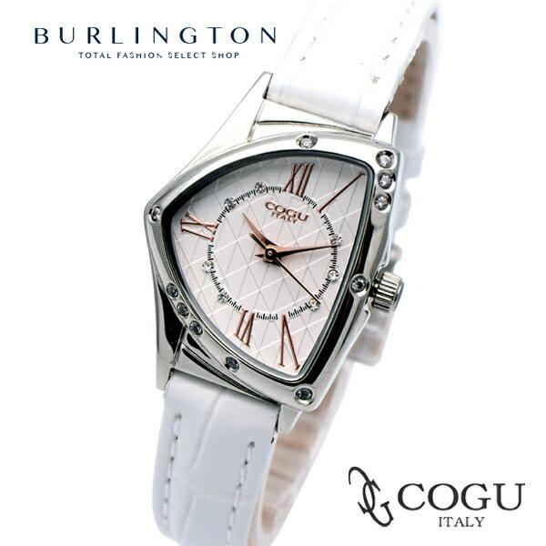 送料無料 正規品 コグ COGU 腕時計 レディース Ladies 時計 BS02T-WHR 革ベルト レザー 人気 ブランド コグ腕時計 かわいい 可愛い 大人 ガーリー 女性 ギフト プレゼント あす楽