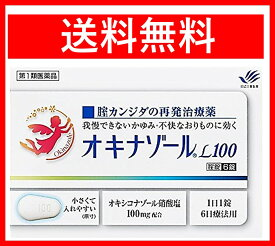 【第1類医薬品】オキナゾールL100 6錠 膣カンジタ再発治療薬 送料無料 定形外郵便