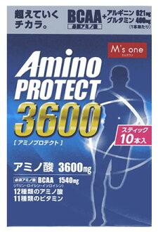 엠즈원아미노프로테크트레몬후레이바 과립 스틱(4.5 g×10개입) 아미노산 3600 mg BCAA1540mg wellness