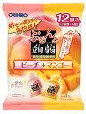 オリヒロ ぷるんと蒟蒻ゼリー パウチ ピーチ+マンゴー (20g×12個入) ウェルネス