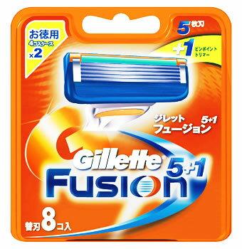 P&G ジレット フュージョン 5+1 替刃 (8個入) 【P&G】
