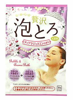 牛乳石鹸 お湯物語 贅沢泡とろ 入浴料 ティアラジャスミンの香り (30g) 入浴剤 バブルバス ウェルネス