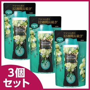 《セット販売》 P&G レノア レノアハピネス アロマジュエル エメラルドブリーズの香り つめかえ用 (455mL)×3個セット 詰め替え用 【P&G】