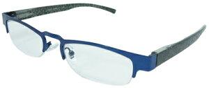 エール シニアグラス 老眼鏡 ハーフタイプ AH107 3.0度 ブルー (1個) 【一般医療機器】