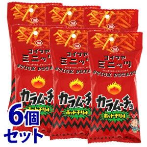 《セット販売》 湖池屋 スリムバッグシリーズ コイケヤミニッツ スティックカラムーチョ ホットチリ味 (40g)×6個セット スナック菓子 ※軽減税率対象商品