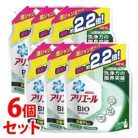 【特売】 《セット販売》 P&G アリエール バイオサイエンスジェル 部屋干し用 つめかえ用 超ジャンボサイズ (1.52kg)×6個セット 詰め替え用 BIO science 液体 洗濯洗剤 【P&G】