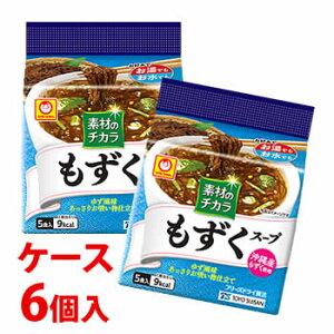 《ケース》 東洋水産 マルちゃん 素材のチカラ もずくスープ 5食入 (18g)×6個 乾燥スープ ※軽減税率対象商品