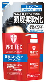ライオン PRO TEC プロテク 頭皮ストレッチ シャンプー つめかえ用 (230g) 詰め替え用 【医薬部外品】 ウェルネス