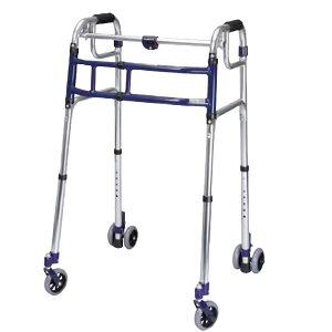 ユーバ産業 送料無料 スライドフィット 超ハイタイプ HT-0194W 歩行器 室内 屋外 兼用 固定式 幅伸縮 歩行器 歩行補助 四輪 サポート 施設 病院