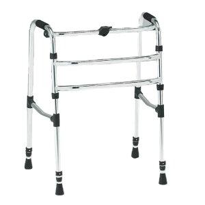 歩行器 固定式 固定歩行 折り畳み 折りたたみ シンプル 使いやすい 松永製作所 CMSシリーズ 前方・後方先ゴムタイプ CMS-90B シンプル 使いやすい 収納便利 歩行補助 リハビリ 施設 自宅 病院