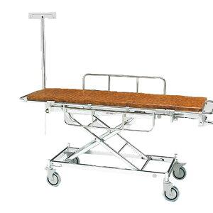 軽量 ストレッチャー ハイロー型 AL-UD-1 松永製作所 クランクハンドル上下式 担架固定式 アルミ製 四輪ダブルロック イルリガートル 担架 ベッド 病院 施設 介護 福祉 母の日 プレゼント ギフ