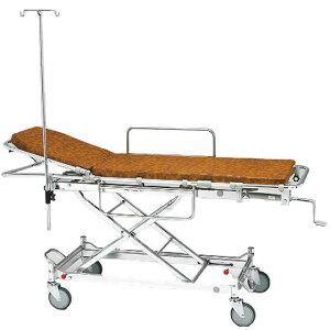 軽量 安心 ストレッチャー ハイロー型 背上げ式 AL-TUD-2 松永製作所 クランクハンドル上下式 担架固定式 アルミ製 トータルロックタイプ イルリガートル 担架 ベッド 病院 施設 介護 福祉 母