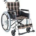 マキテック 自走用 車椅子 EX-50 | 車いす 車イス くるまいす 折り畳み 折りたたみ 背折れ エアタイヤ 介助ブレーキ付…