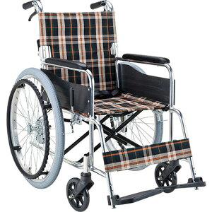 マキテック 自走用 車椅子 EX-50 | 車いす 車イス くるまいす 折り畳み 折りたたみ 背折れ エアタイヤ 介助ブレーキ付き バンド式ブレーキ アルミフレーム SGマーク