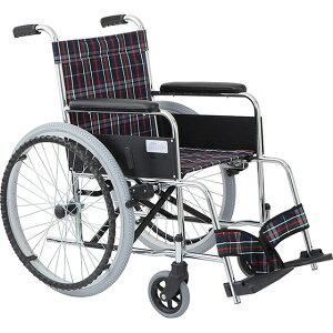 車椅子 自走式車椅子 リーズナブル ノーパンク・ガートル掛け標準装備 ガートル棒付 [美和商事] リーズ MW-22STNS 車イス/車いす/車椅子