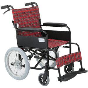 車椅子介助式車椅子シンプルアルミ製[美和商事]ノーパンク仕様アミー16 MW-16AN車イス/車いす/車椅子