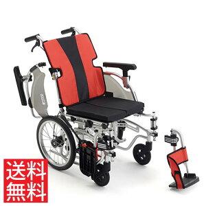 送料無料 車椅子 モジュール ノーパンク スイングアウト アームサポート跳ね上げ MIKI ミキ 介助用 車イス MEF-16 座面高調整 シート幅調整 調整簡単 折りたたみ アームサポート高さ調整 座り