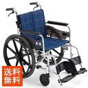 ミキ/MiKi ビッグサイズ 車椅子 KJP-2M スタンダードタイプ | 送料無料 自走式 自走用 ノーパンクタイヤ 折りたたみ …