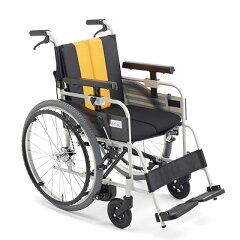 送料無料車椅子自動ブレーキノンバックブレーキシステムMIKIミキとまっティシリーズMBY-47Bブレーキかけ忘れ自走用車いす車イス折り畳み多機能スイングアウトプレゼント