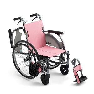 コンパクト 超軽量 スリム 車椅子 ワンハンドブレーキ 低床 足こぎ 小柄 低座面 肘跳ね上げ スイングアウト 送料無料 人気 MIKI ミキ CRT-7Lo 自走用 車いす 車イス 折りたたみ ノーパンクタイヤ