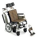 送料無料 車いす コンパクト ティルト 折り畳み 折りたたみ MIKI ミキ スキットシリーズ SKT-7 介助用 車椅子 車イス …