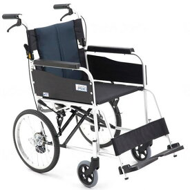 MiKi/ミキ 介助用車椅子 USG-2   車椅子 軽量 折り畳み 折りたたみ アルミ製 背折れ 介助式 ノーパンクタイヤ ハイポリマータイヤ 施設 病院