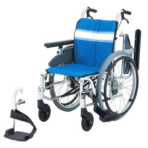 日進医療器 自走用 モジュール車椅子 NA-3DX | 車いす 車イス くるまいす 背折れ 折り畳み 折りたたみ エアタイヤ 介助ブレーキ付き バンド式ブレーキ アルミフレーム JISマーク